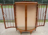 Bowfront Walnut China Display Cabinet - SOLD